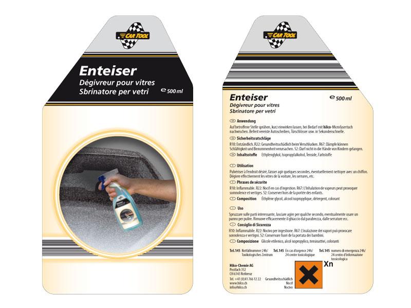 Hilco Chemie | Aldi-Klebeetiketten | Verpackung