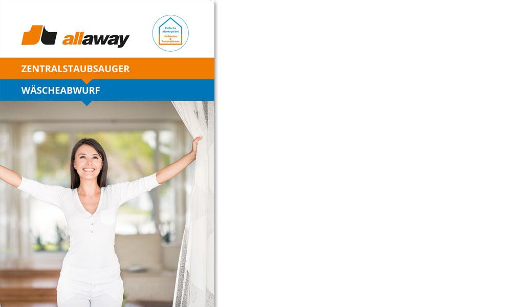 Design des Selfmailers für Allaway durch Egli-Werbung
