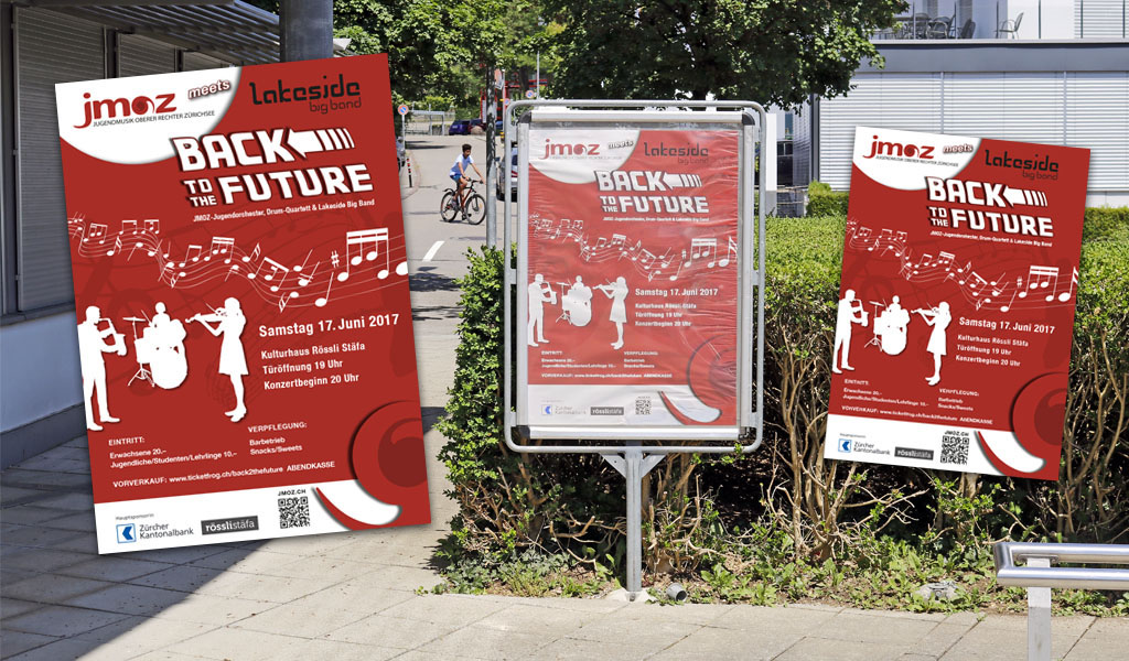 Design der Poster & Plakate fürJimoz durch Egli-Werbung & Newmedia-Design