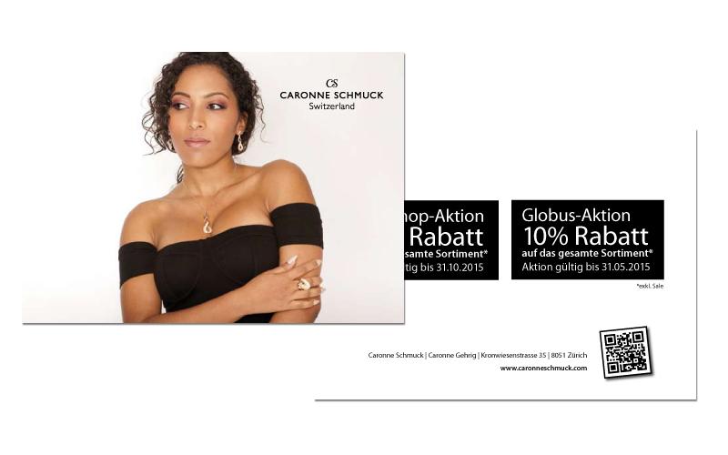 Caronne Schmuck Webshop-Promokarte