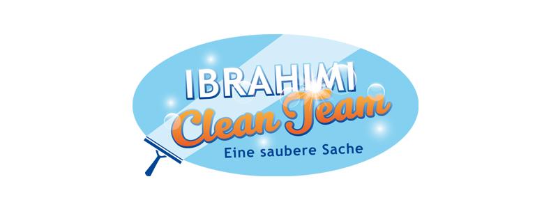 Logodesign für das Ibrahimi CleanTeam durch Egli-Werbung