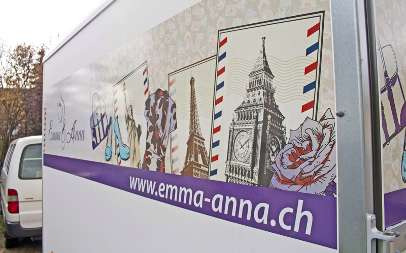 Emma&Anna | Anhängerbeschriftung | Beschriftung