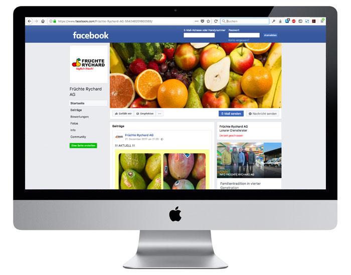 Facebook KMU für Früchte Rychard AG durch Egli-Werbung