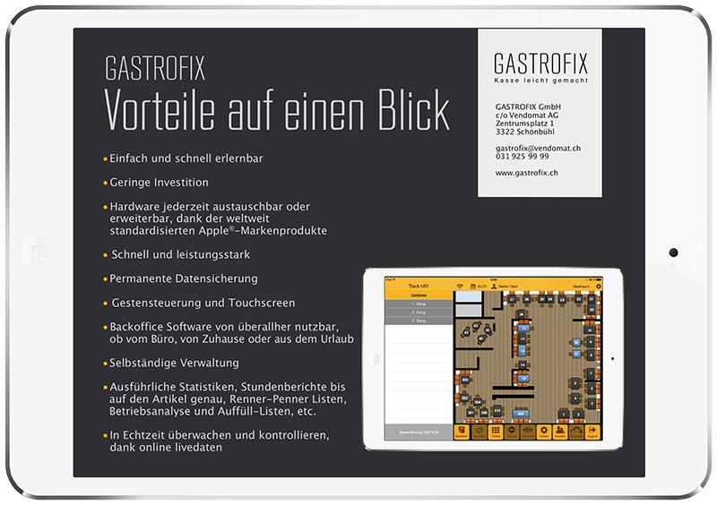 Flyer für Gastrofix durch Egli-Werbung