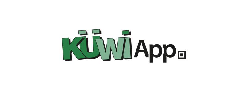 Logodesign für die neue Küwi-App durch Egli-Werbung