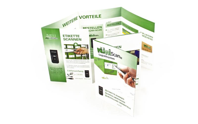 Design des Flyers für die Küwi AG durch Egli-Werbung