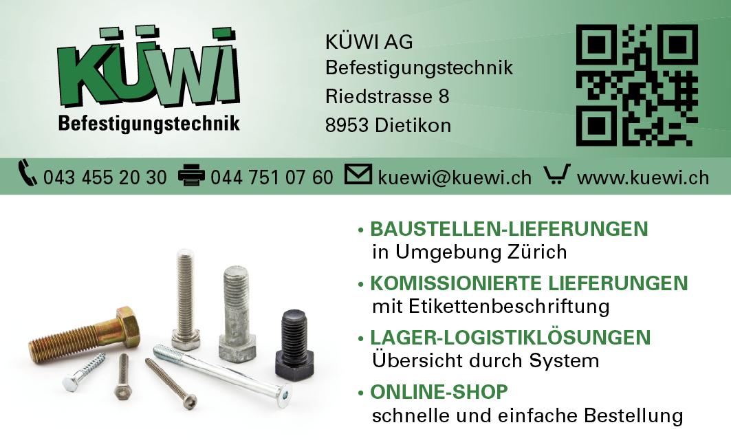 Design des Inserat für Küwi AG durch Egli-Werbung