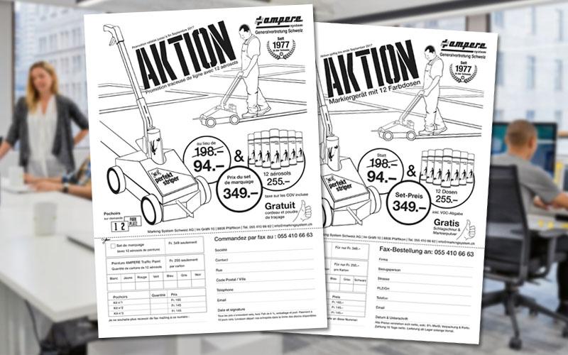 Fax Mailing für die Marking System Schweiz AG durch Egli-Werbung