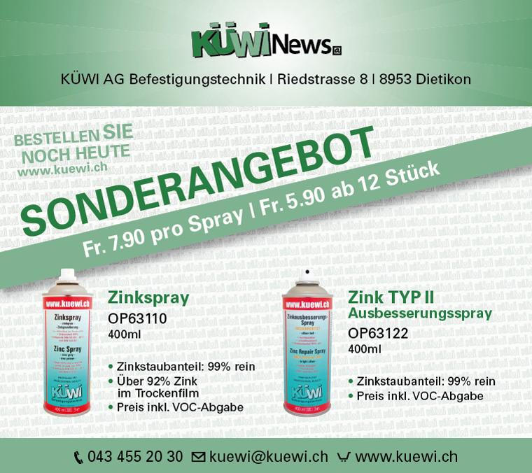 Newsletter-Design für Küwi AG durch Egli-Werbung