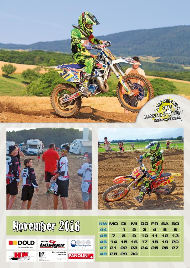 Umsetzung des Sponsoring-Kalender für Leandro Lüdi durch Egli-Werbung