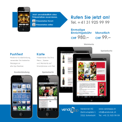VendoApp Fensterfalz-Flyer