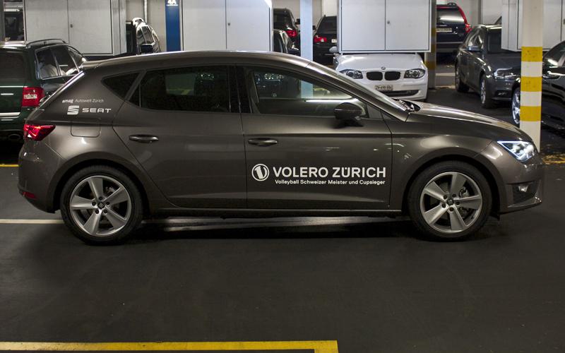 Volero Zuerich Fahrzeugbeschriftung