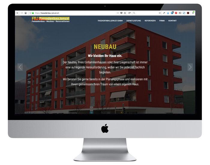 Webdesign für die Fassadenbau-Jonuzi GmbH durch Egli-Werbung