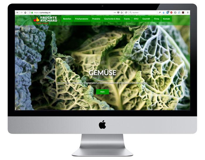 Webdesign für die Früchte Rychard AG