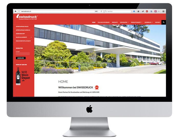 Webdesign für die Swissdruck durch Egli-Werbung
