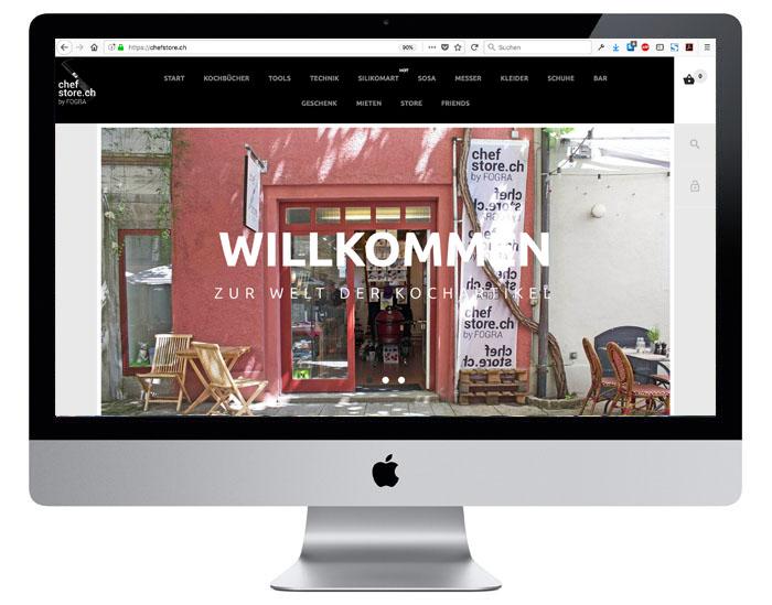 Webshop Redesign für Chefstore durch Egli-Werbung