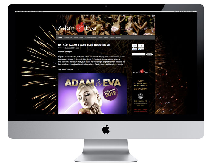 Adam & Eva Events Webdesign | adamundeva-events.ch