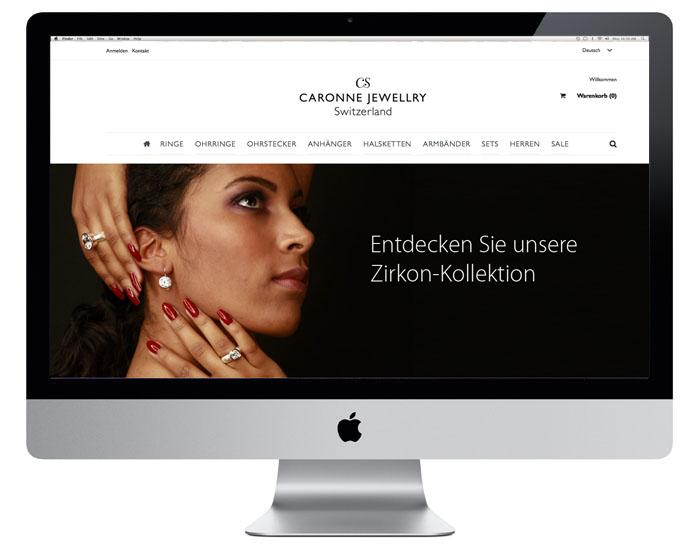 Caronne Schmuck Webdesign | caronneschmuck.com