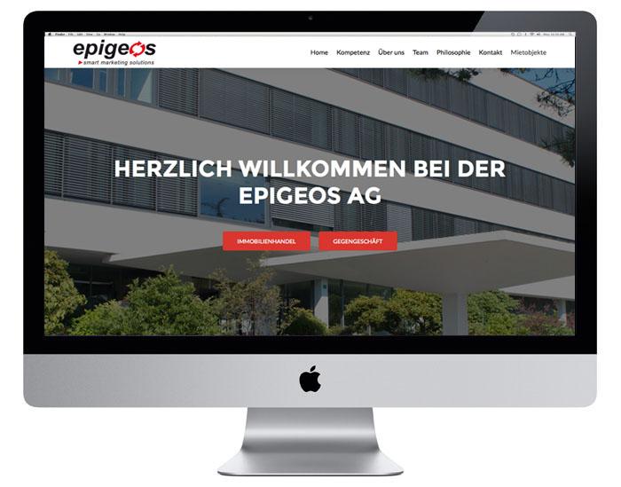 Webdesign für Epigeos AG durch Egli-Werbung