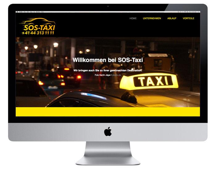 OnePageDesign SOS-Taxi | sos-taxi.ch
