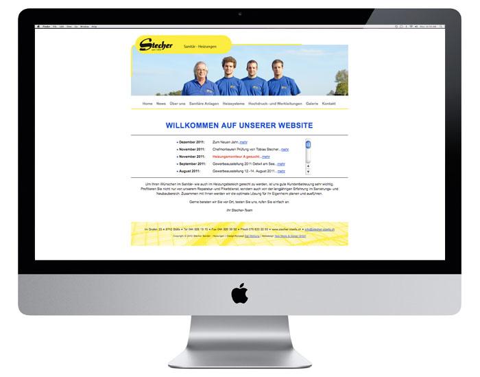 Stecher Sanitär Webdesign | stecher-staefa.ch